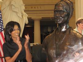Michelle Obama and Artis Lane
